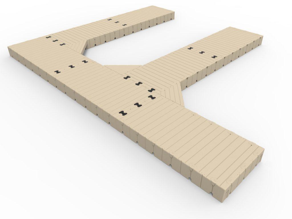 2 F Shape dock 30 Long x 25 Wide with 60  Finger DocksF30025w